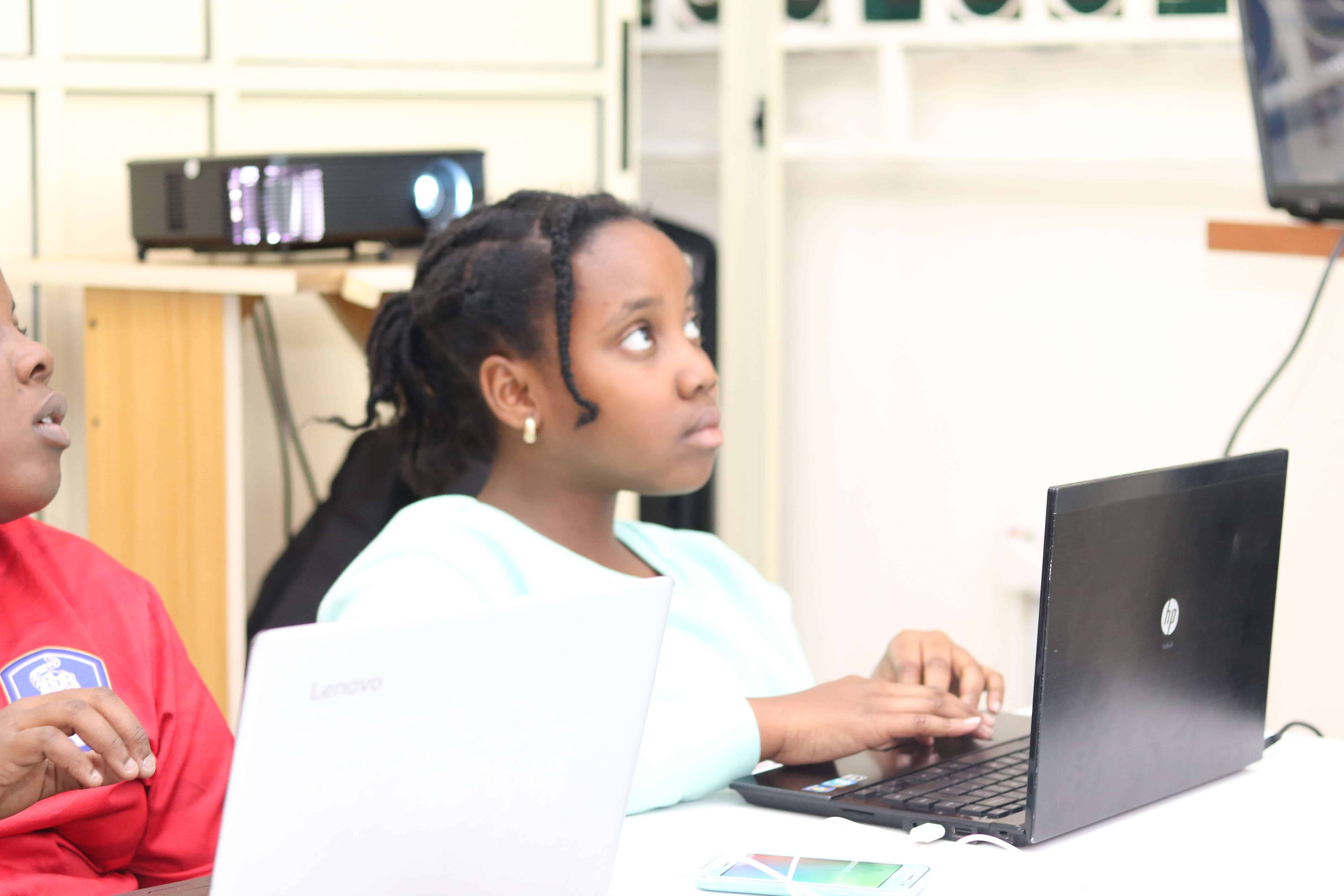 9jacodekids teenage girl coding in Port Harcourt, Nigeria